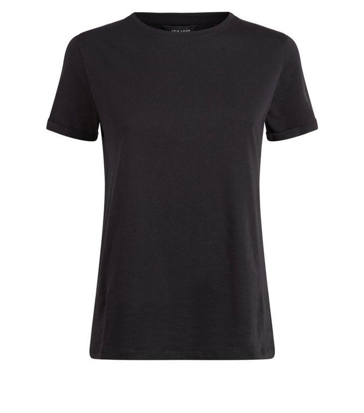 c8fcf67ff6 ... Black Organic Cotton Roll Sleeve T-Shirt. ×. ×. ×. Shop the look