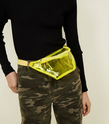 Yellow Tinted Plastic Bum Bag