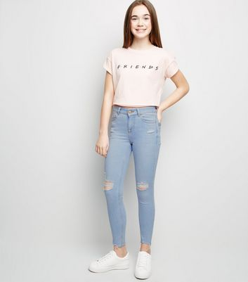 Young teen girls skinny jeans thought