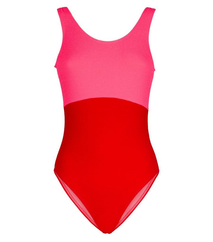 db05a07a065d6e ... Red Crinkle Colour Block Swimsuit. ×. ×. ×. Shop the look