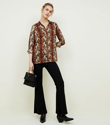 Brown Snake Print Shirt