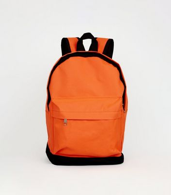 Sac à dos orange vif néon