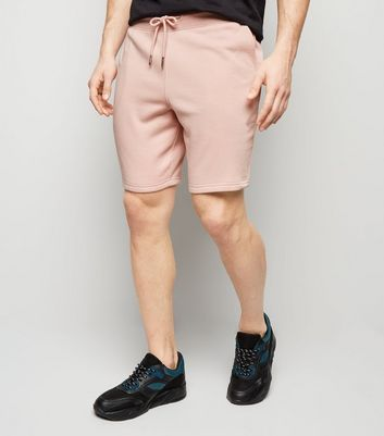 Jersey-Shorts mit Kordelzug in Rosa