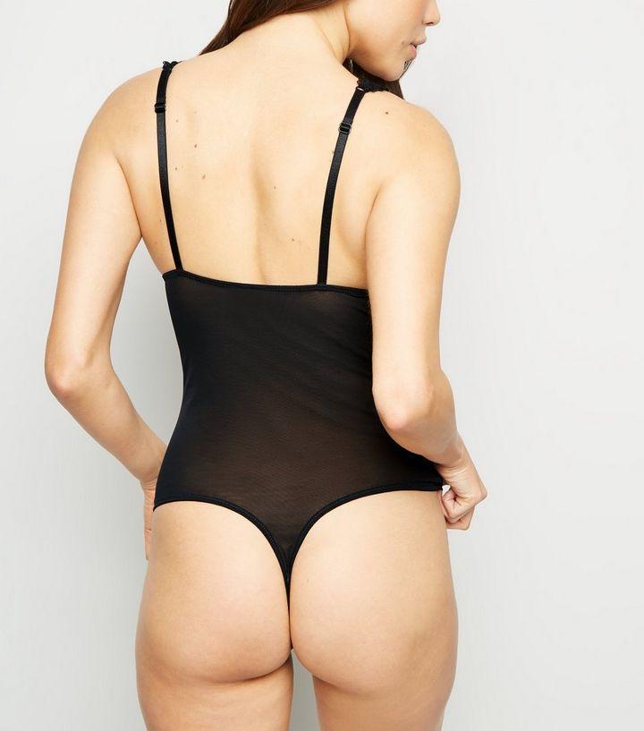 80d394e0bceb ... Black Lace Panel Padded Bodysuit. ×. ×. ×. Shop the look