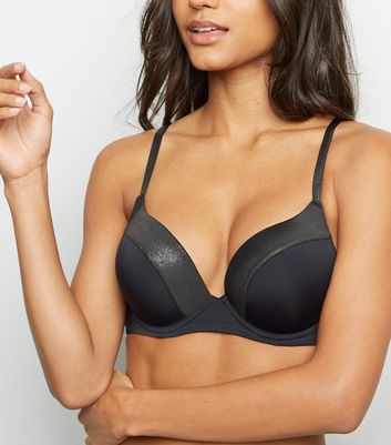 Black Foil Trim Boost Bra