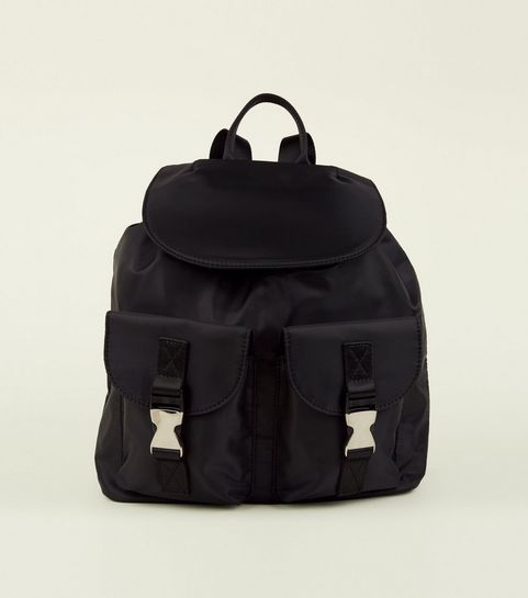 ... Black Clip Double Pocket Utility Backpack ... 335017a1a3700