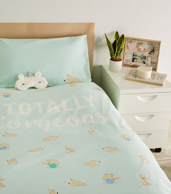 Mint Corgeous Corgi Cotton Single Duvet Set