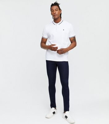 Navy Rinse Wash Skinny Stretch Jeans