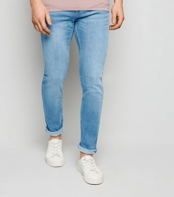 Blaue Stretch Skinny Jeans