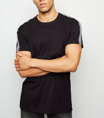Black Chevron Tape Sleeve T-Shirt