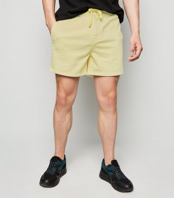 Pale Yellow Drawstring Shorts