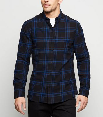 Bright Blue Check Cotton Shirt