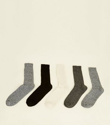 Lot de 5 paires de chaussettes multicolores stretch en coton