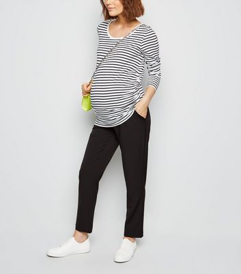 Maternity Black Lightweight Over Bump Trousers