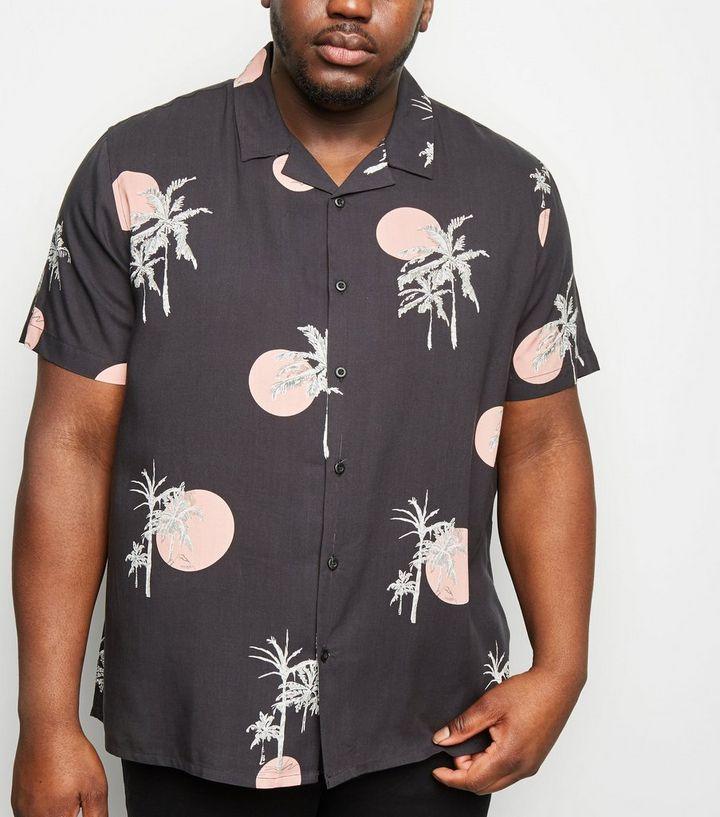 premium selection ab703 8ae1f Plus Size – Graues, kurzärmliges Hemd mit Sonnenuntergangs-Aufdruck Für  später speichern Von gespeicherten Artikeln entfernen