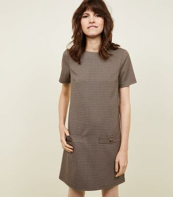 Brown Heritage Check Tunic Dress
