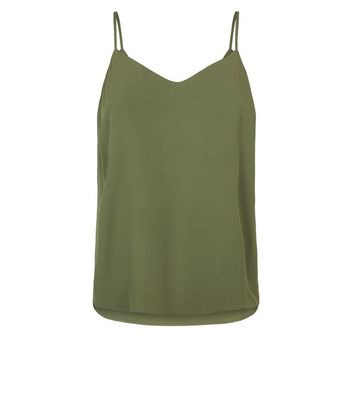 shop for Olive Lattice Back Cami New Look at Shopo