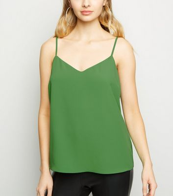 Green Lattice Back Cami