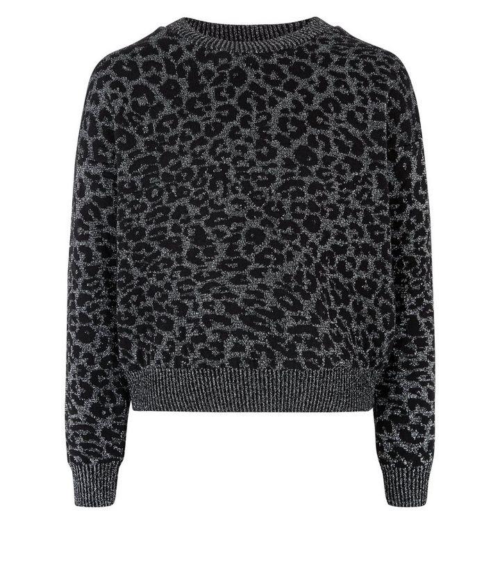 6867855c ... Knitwear · Girls Light Grey Glitter Leopard Print Jumper. ×. ×. ×. Shop  the look