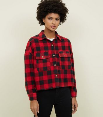 Tokyo Doll Red Check Fleece Shacket
