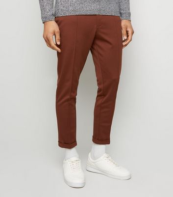 Rust Skinny Cropped Trousers