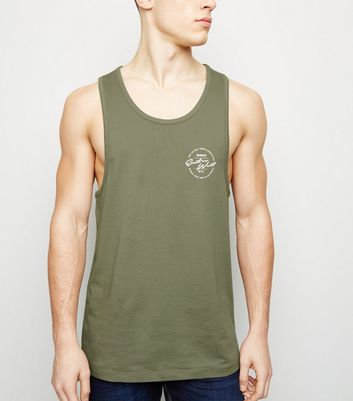 Olive East Vs West Slogan Vest Top