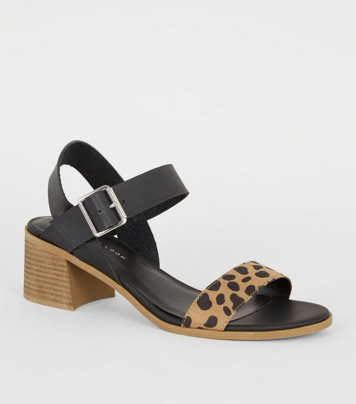 771e633d2d Brown Animal Print Strap Low Heel Sandals | New Look