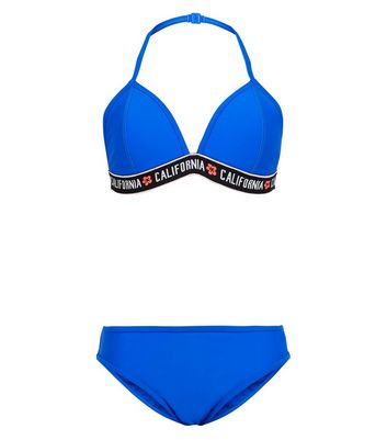 "Girls – Hellblaues Bikini-Set mit elastischem ""California""-Band"