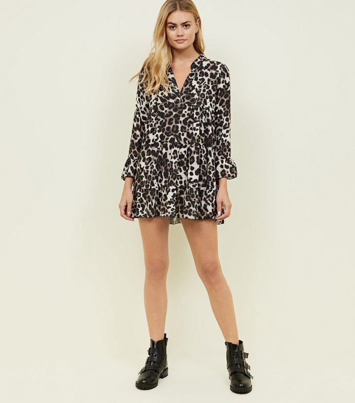 5f80db7d6596 ... Brown Leopard Print Smock Dress. ×. ×. ×. Shop the look
