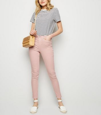 Pink High Waist 'Lift & Shape' Skinny Jeans