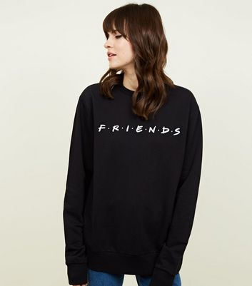 Black Friends Logo Sweatshirt by New Look