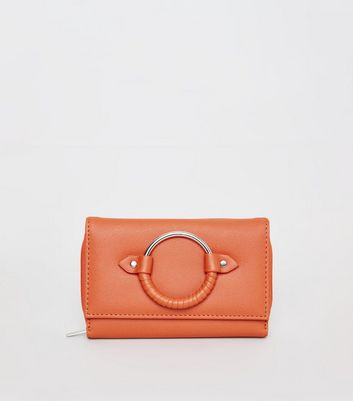 Orange Wrapped Ring Front Purse
