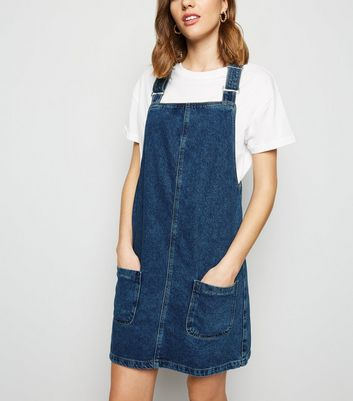 Blue Buckle Denim Pinafore Dress