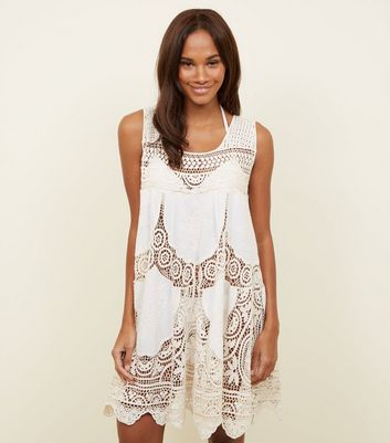 Cameo Rose Cream Insert Crochet Dress