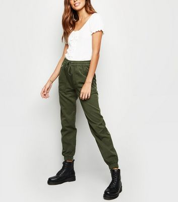 Khaki Lightweight Denim Joggers