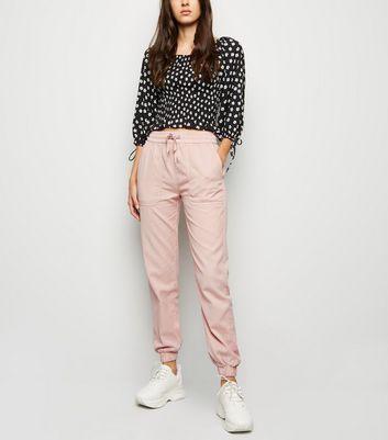 Pink Lightweight Denim Joggers New Look