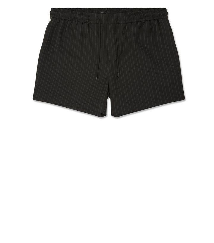 4237b02e95b30 Black Pinstripe Side Piped Shorts | New Look