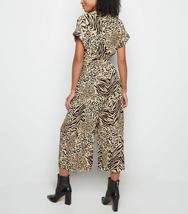 5ac1faf408 ... Brown Mixed Animal Print Cropped Jumpsuit. ×. ×. ×. Shop the look