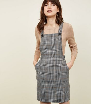 Black Prince of Wales Check Pinafore Dress
