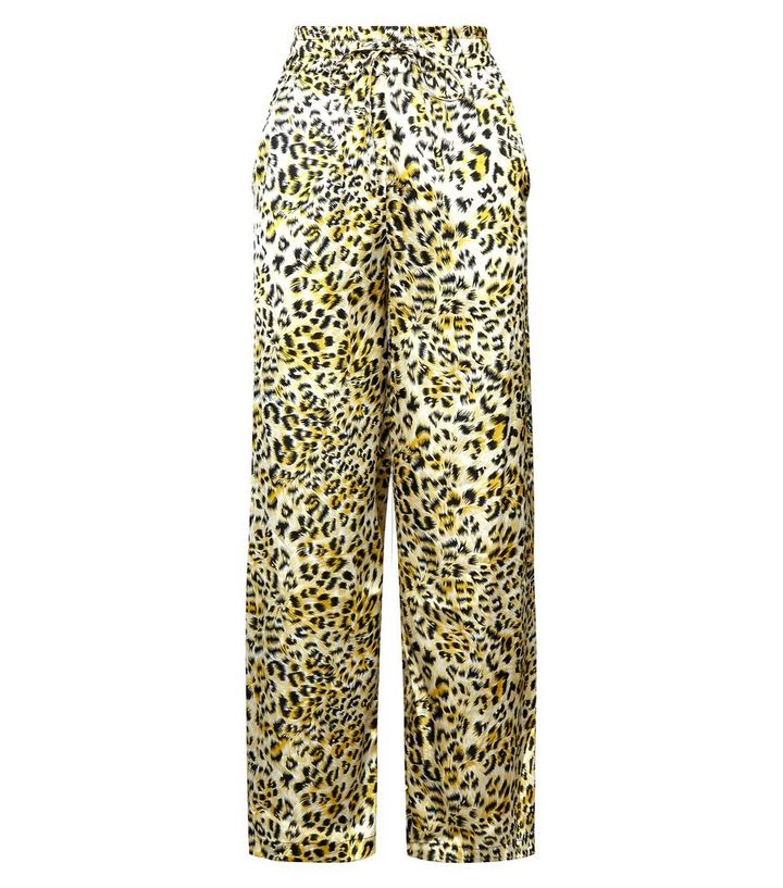 1c03799bc9ed ... Innocence Yellow Leopard Print Satin Trousers. ×. ×. ×. Shop the look