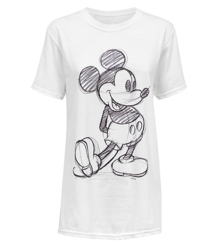 6abe734a71 ... Womens Clothing · Women s Tops · White Sketched Mickey Mouse Disney  T-Shirt. ×. ×. ×. Shop the look