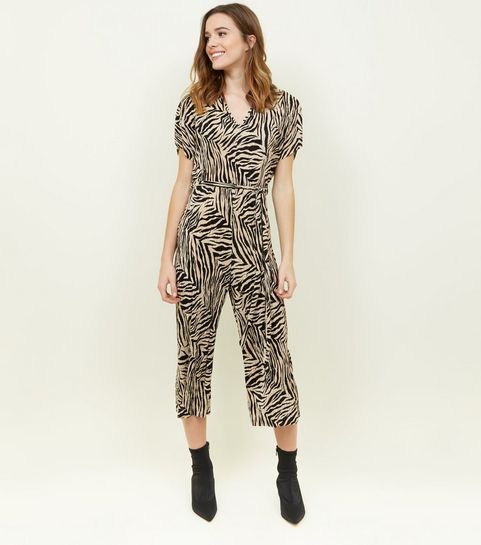 a169fb65b498 Black Plissé Zebra Print Jumpsuit · Black Plissé Zebra Print Jumpsuit ...