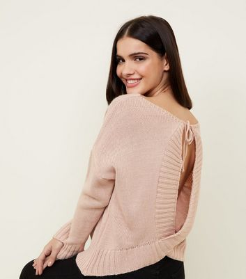 QED Bright Pink Keyhole Back Jumper
