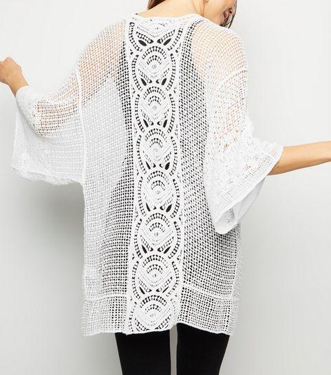207e6aa79d73 Off White Crochet Kimono · Off White Crochet Kimono ...