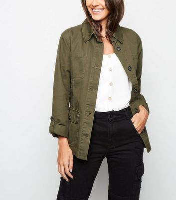 Khaki Belted Utility Shacket