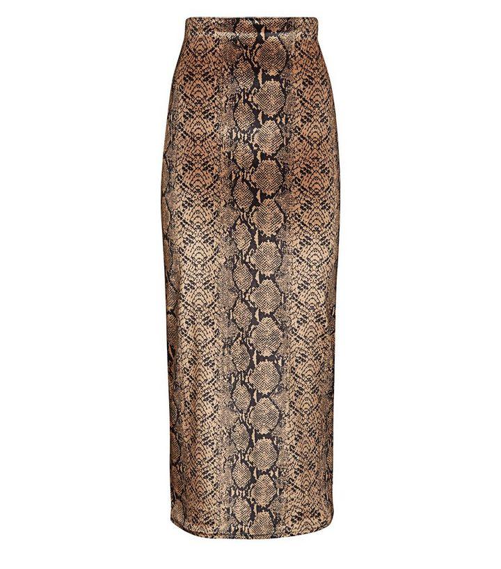 cf2db9d1fb35b Pink Vanilla Brown Snake Print Maxi Skirt | New Look
