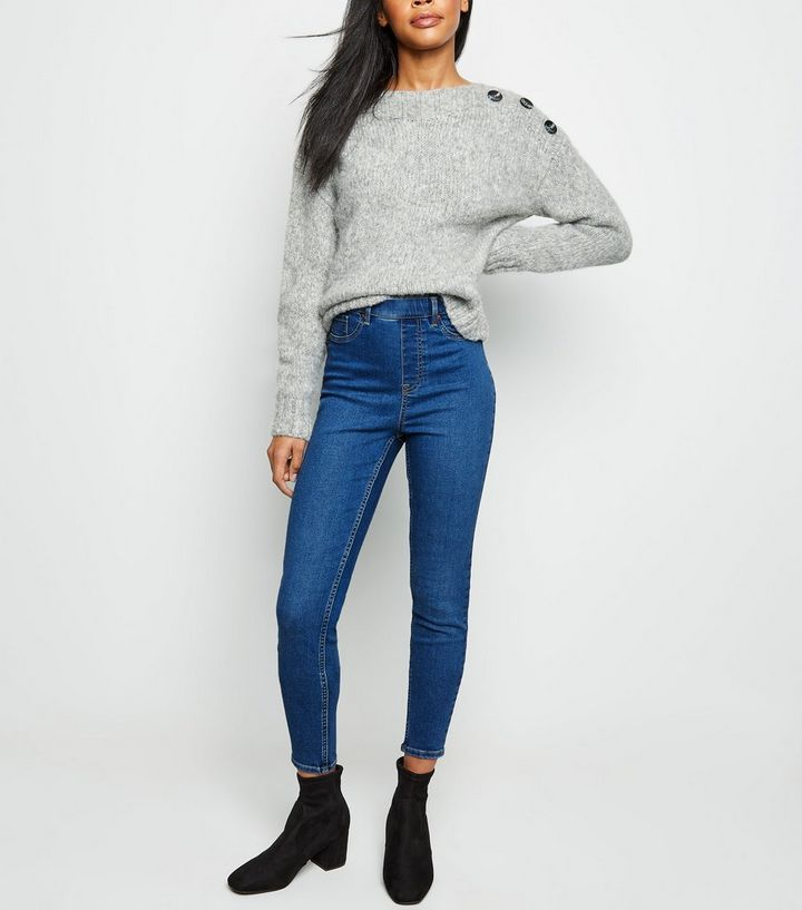 61e1fe5c26f Tall Blue Mid Wash Jeggings | New Look