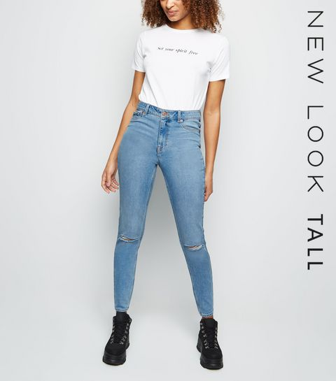 aa2ef3eb03393 ... Tall Pale Blue Ripped Skinny Jenna Jeans ...