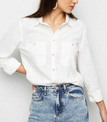white linen shirt for women