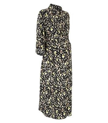 38e9c98ba8c2 Maternity Black Leopard Print Shirt Dress New Look   £12.00 ...